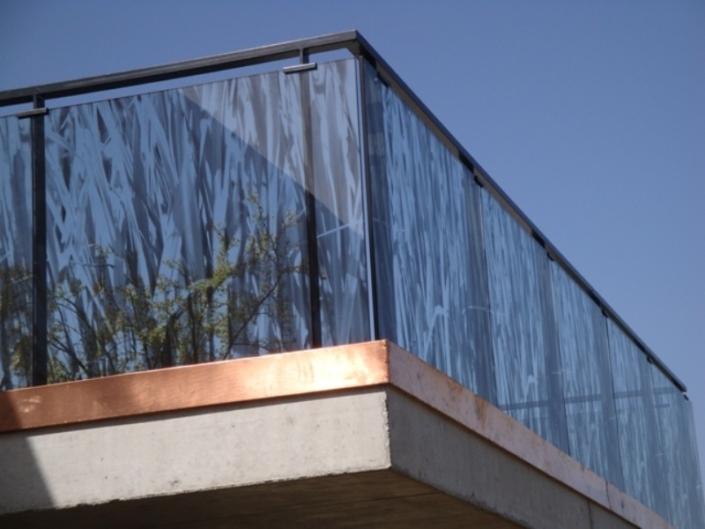 Glasgeländer mit bedrucktem Glas