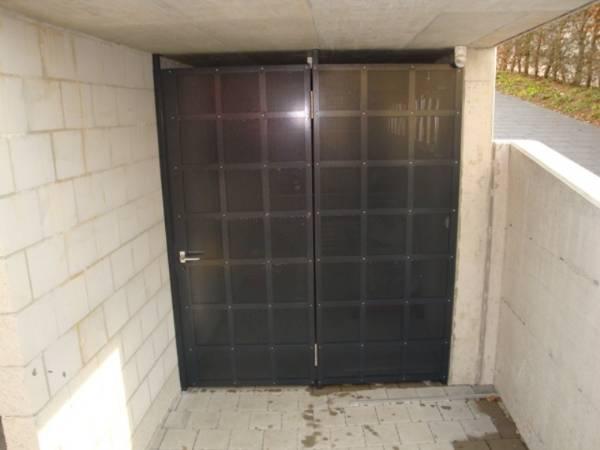 Gittertüre Alluminium Lochblech