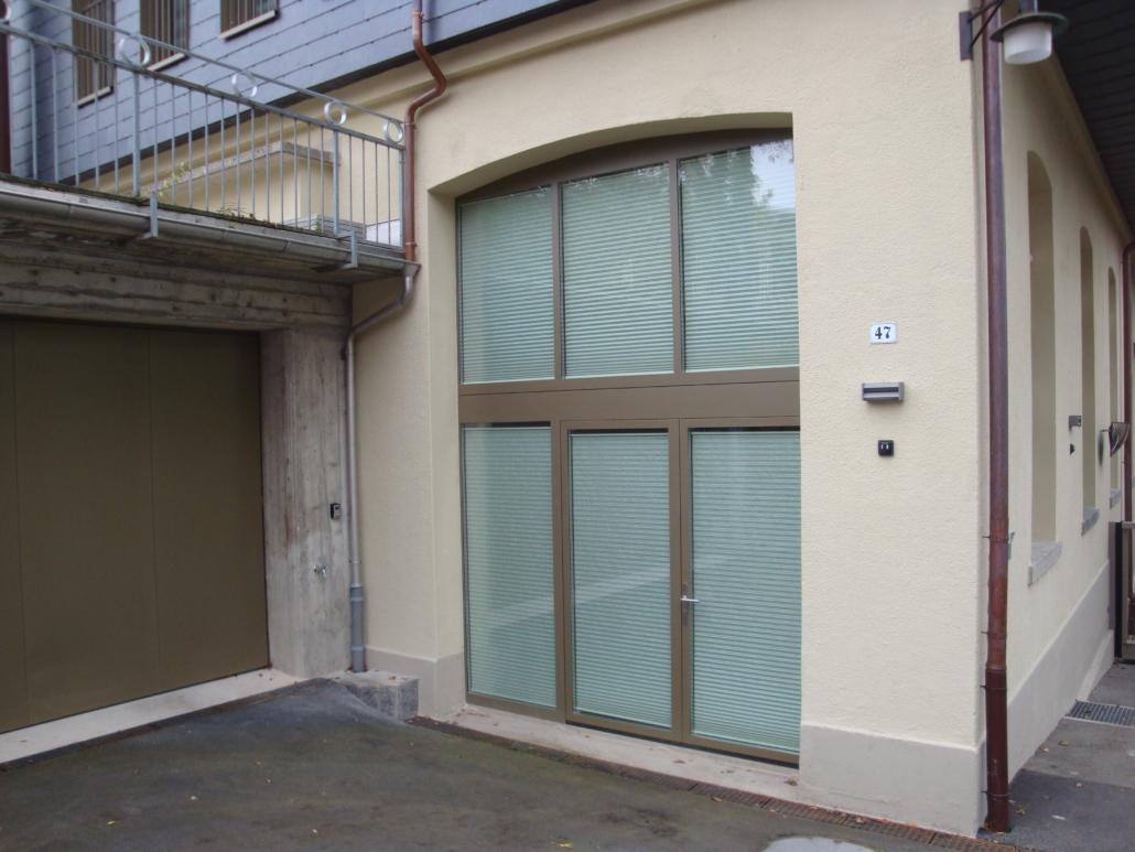 Fenster mit Glastüre