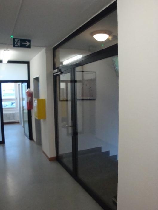 Brandschutztüre aus Profilstahlrohren