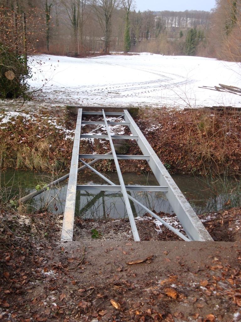 Brückenbau Stahlträger