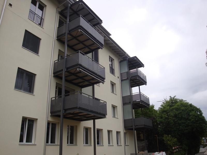 Stahlbau Balkonkonstruktion Brugg